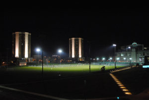 lincoln fields at night